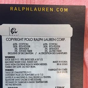 Polo by Ralph Lauren Accessories - 🆕 Polo Ralph Lauren Pink Ankle Socks